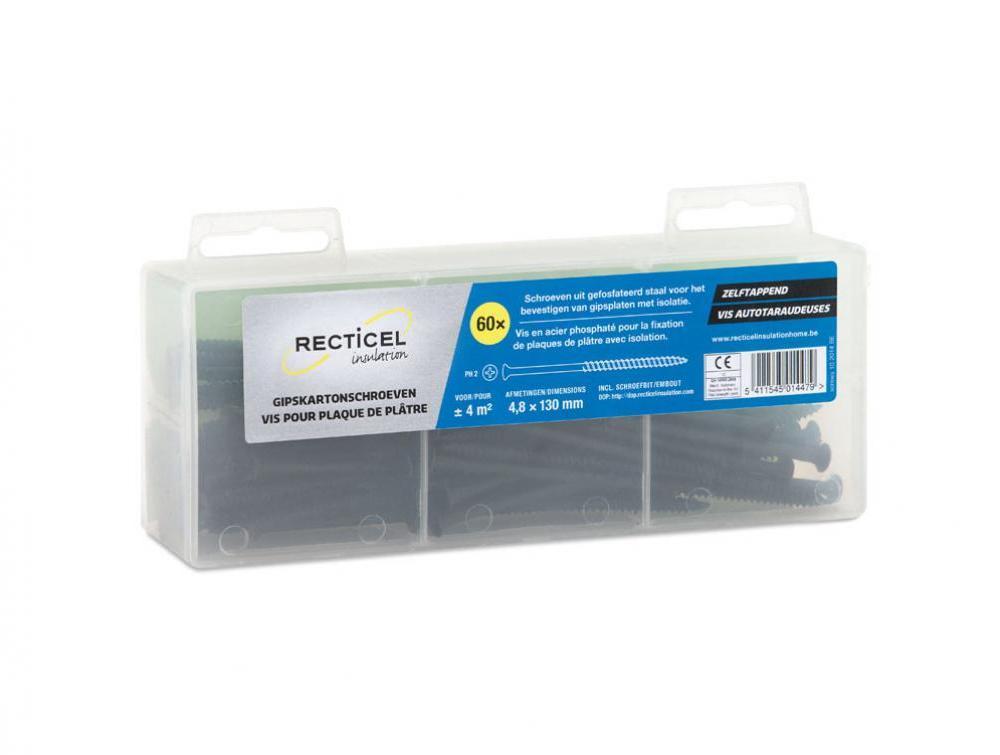 gipskartonschroeven Recticel Insulation 130mm
