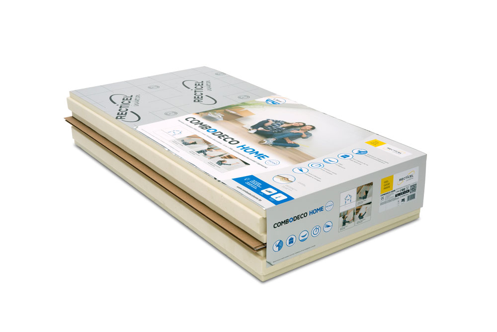 Combodeco PIR 2-in- 1 insulation board with decorative finishing
