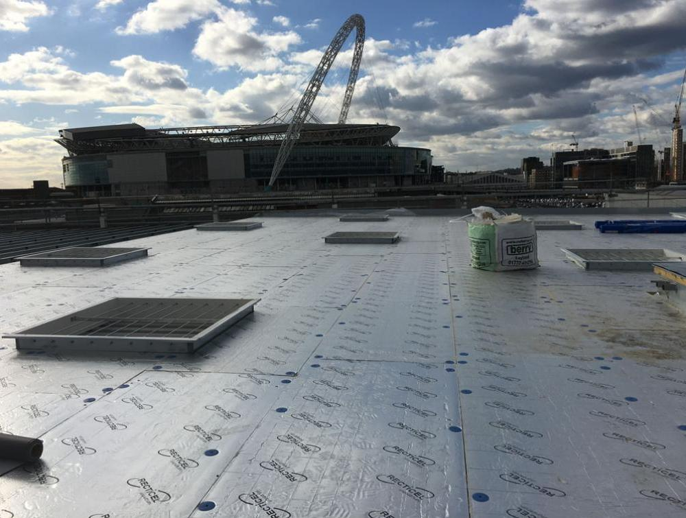 Recticel Insulation's Eurothane Eurodeck insulation installation image at Costco Wembley