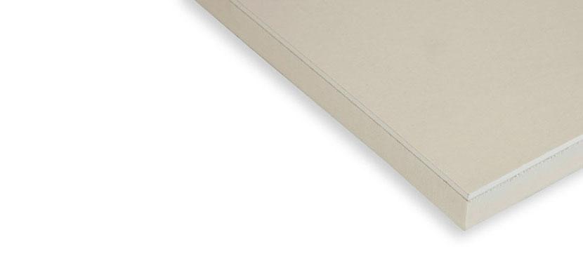 Eurothane G Thermische isolatieplaat en gipskartonplaat in één voor binnenmuren en hellende daken.