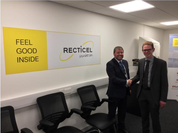 Jack Brereton MP meets Recticel Insulation's Commercial Director, Kevin Bohea image