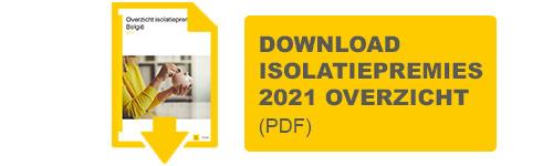 download het isolatiepremies 2021 België overzicht