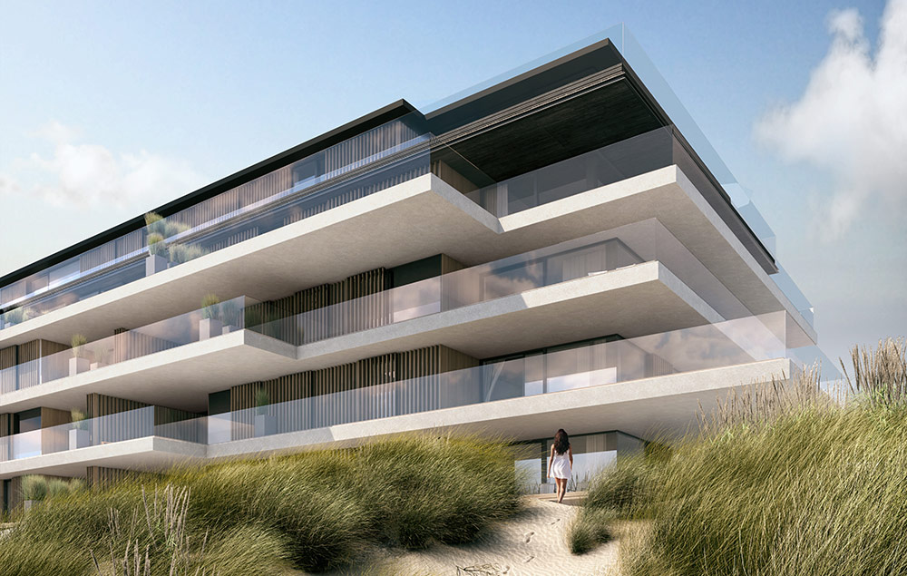 Exclusive appartments project blanke top in Cadzand-Bad, Belgium
