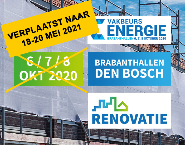 Beurs energie en renovatie Den Bosch Oktober 2020 verplaatst naar mei 2021