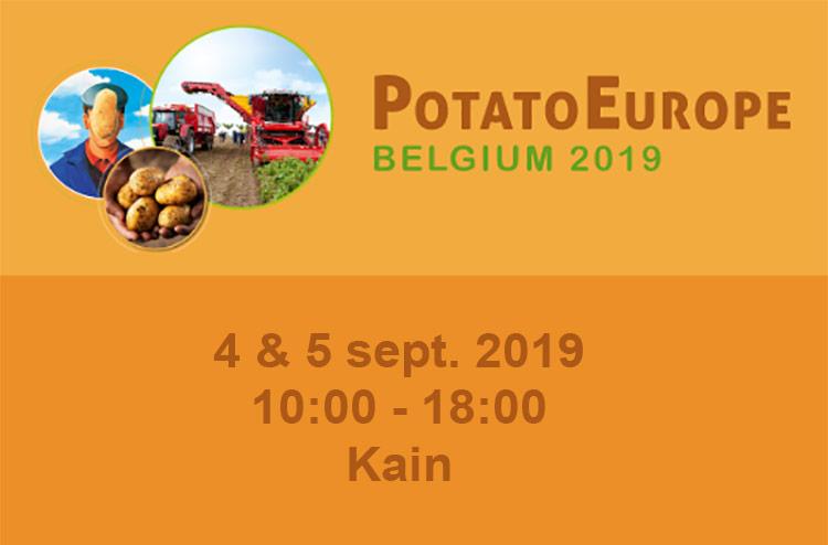 Visitez le stand de Recticel Insulation dans la grande tente sur le terrain Potato Europe 2019 à Kain.Le salon est le mercredi 4 et le jeudi 5 septembre 2019 de 10h à 18h