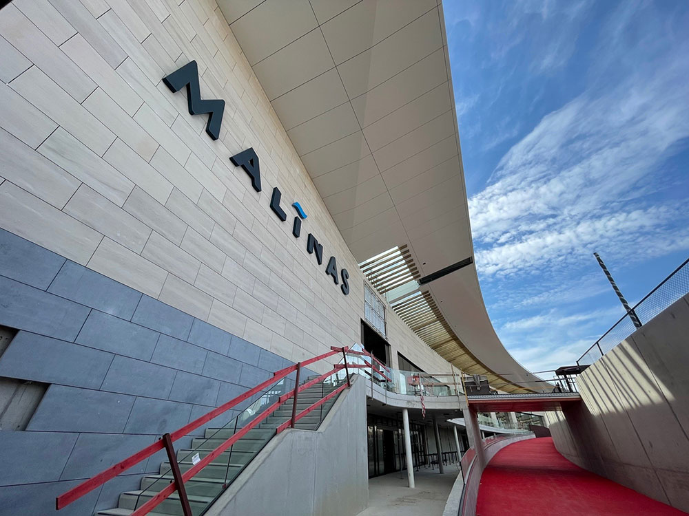 Project met gevelisolatie Powerwall op Malinas gebouw