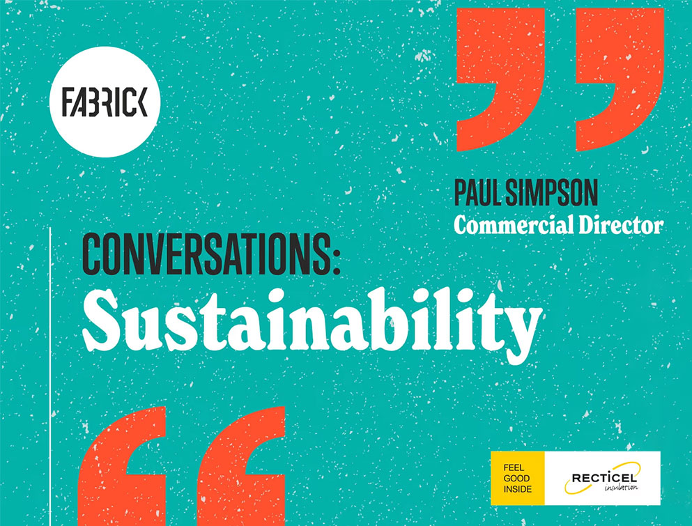Recticel and Fabrick Conversation about Sustainability graphic