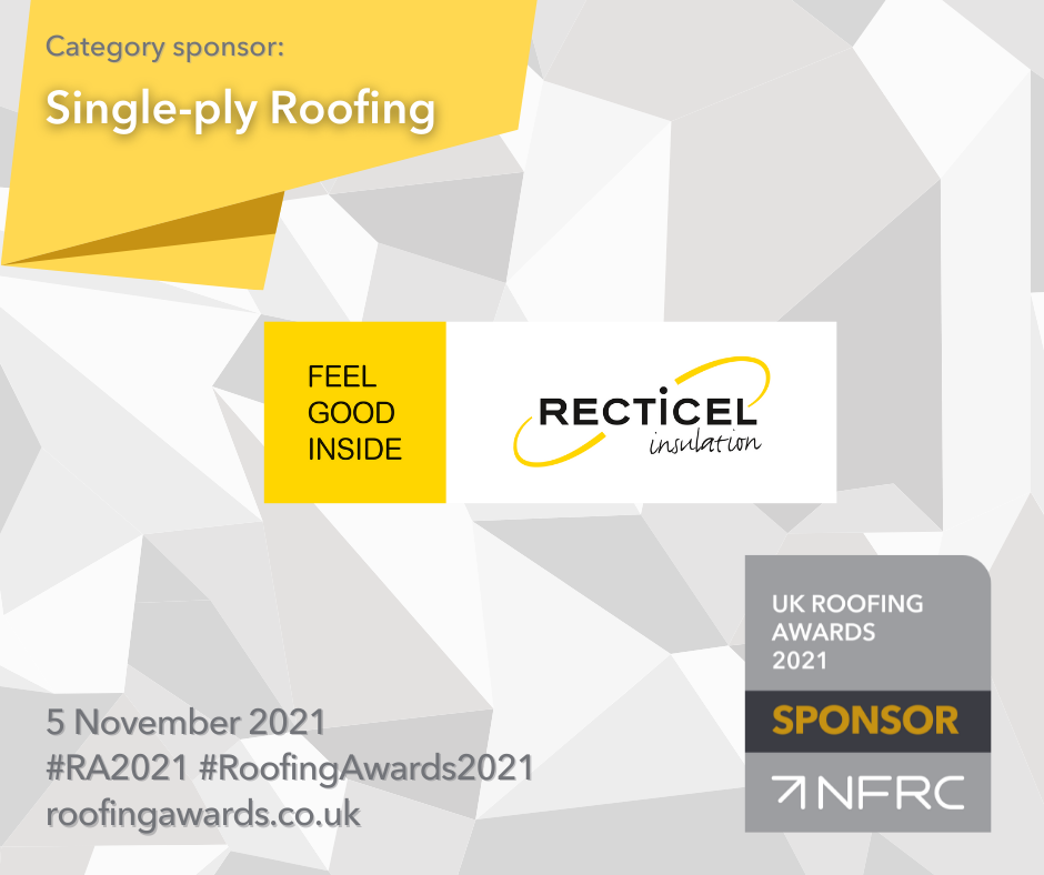 Proud sponsors of the 2021 UK Roofing Awards