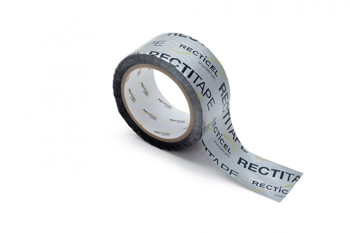 Rectitape: tape designed for taping corners and joints for insulation boards