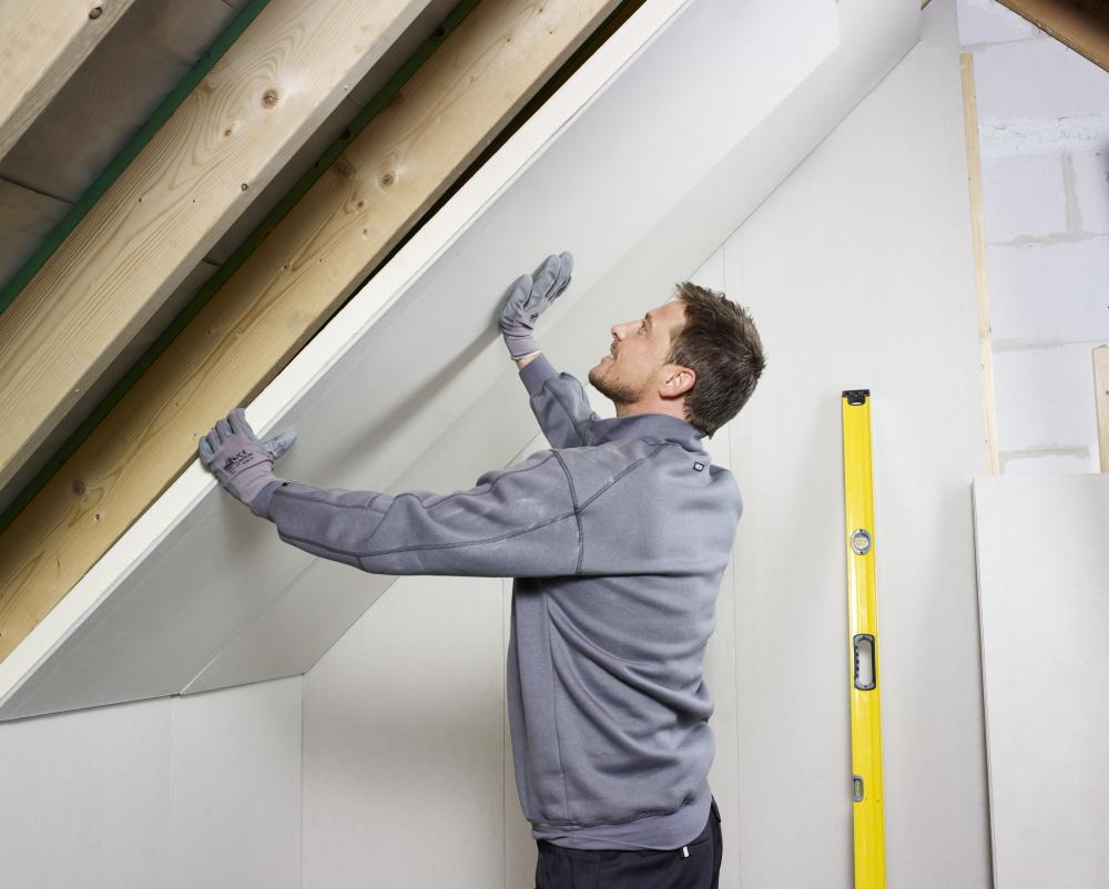 Recticel Insulation's Eurothane PL installation image in an loft ceiling application
