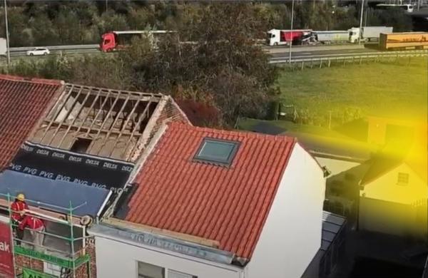 Powerroof dak met dampscherm
