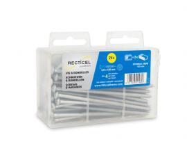 Schroeven en rondellen voor het bevestigen van isolatieplaten van Recticel Insulation - 120mm