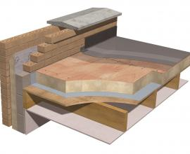 Recticel Insulation Plylok build up example image