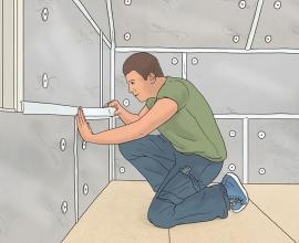 Instafit panel DIY thermal insulation wall application
